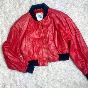 Vintage Tannery West red leather jacket